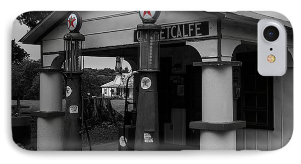 Antique Texaco Visible Gas Pumps IPhone Case by Chris Flees
