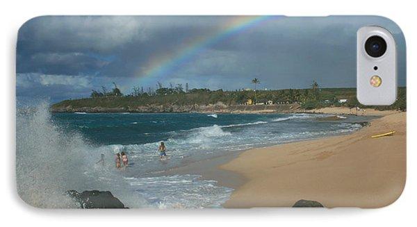 Anuenue - Aloha Mai E Hookipa Beach Maui Hawaii Phone Case by Sharon Mau