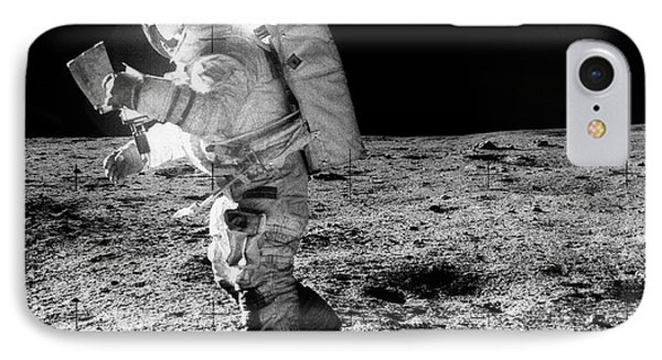 Apollo 14 Astronaut On The Moon IPhone Case by Nasa/detlev Van Ravenswaay