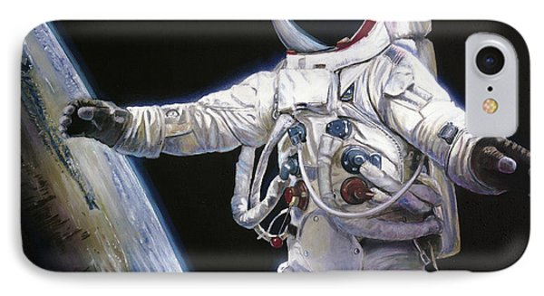 Apollo 9 - Schweickart On The Porch IPhone 7 Case by Simon Kregar