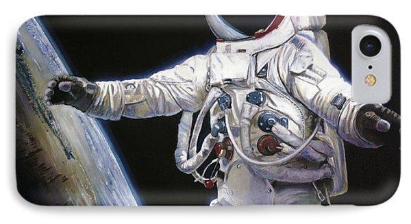 Apollo 9 - Schweickart On The Porch IPhone Case by Simon Kregar