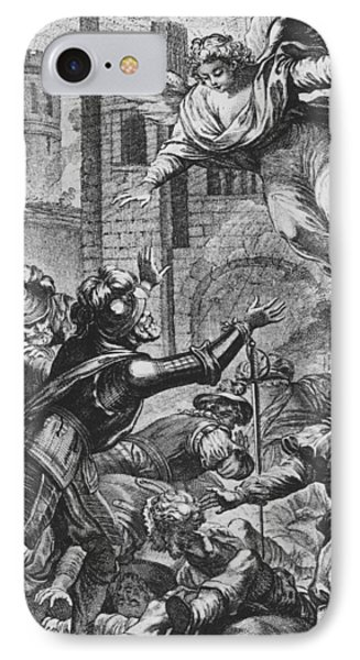 Apparition Of St Louis To Henri Iv IPhone Case by Joseph de Longueil