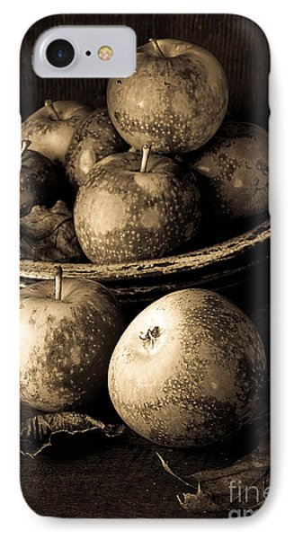 Apple Still Life Black And White Phone Case by Edward Fielding
