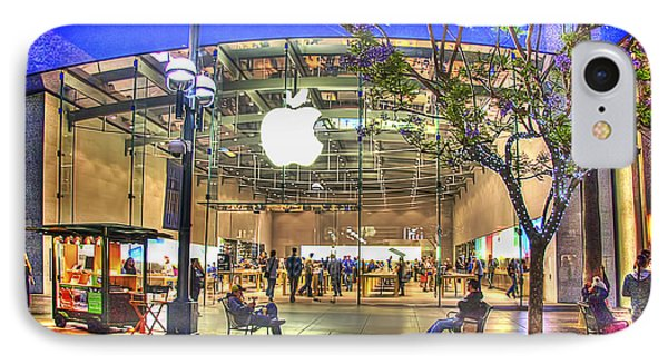 Apple Store - Santa Monica IPhone Case by Chuck Staley