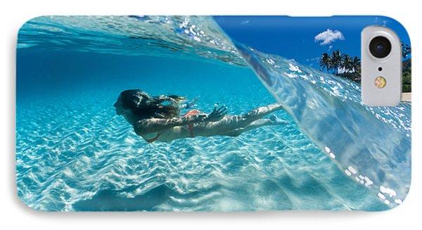 Aqua Dive IPhone Case by Sean Davey
