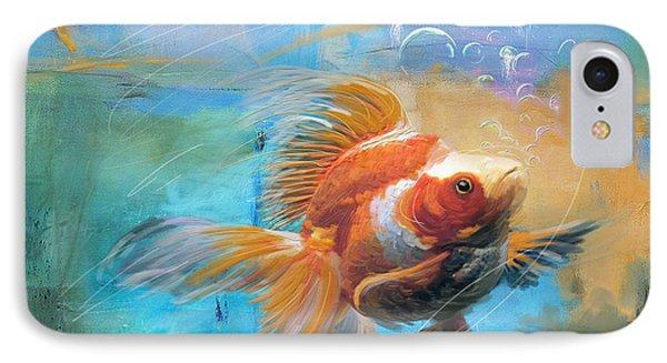 Aqua Gold IPhone 7 Case by Catf