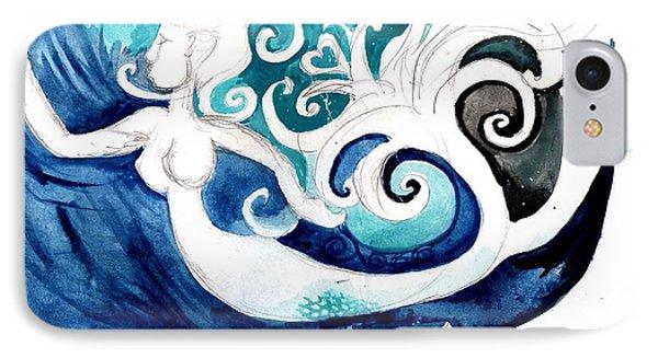 Aqua Mermaid Phone Case by Genevieve Esson
