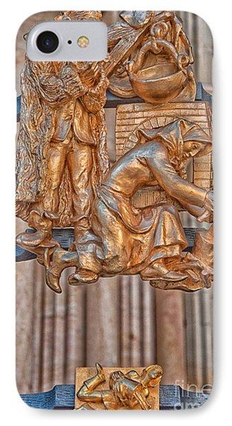 Aquarius Zodiac Sign - St Vitus Cathedral - Prague IPhone Case by Ian Monk