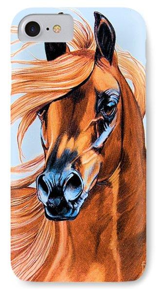 Arabian Portrait In Color Pencil Phone Case by Cheryl Poland