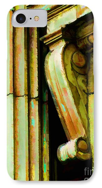 Archatectural Elements  Digital Paint IPhone Case by Debbie Portwood