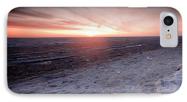 Arctic Sunrise Over The Beaufort Sea IPhone Case by Chris Madeley
