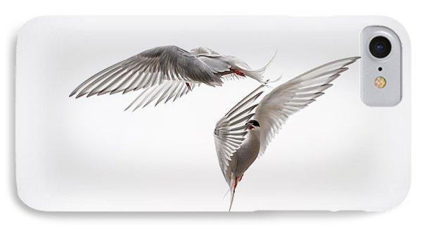 Arctic Tern - Sterna Paradisaea - Pas De Deux  Phone Case by Ian Monk