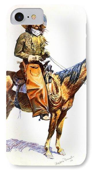 Arizona Cowboy Phone Case by Frederic Remington