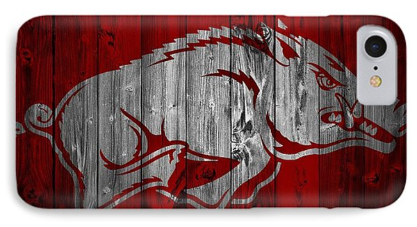 Arkansas Razorbacks Barn Door IPhone 7 Case by Dan Sproul