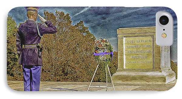 Arlington Cemetery Tomb Of The Unknowns IPhone Case by Bob and Nadine Johnston