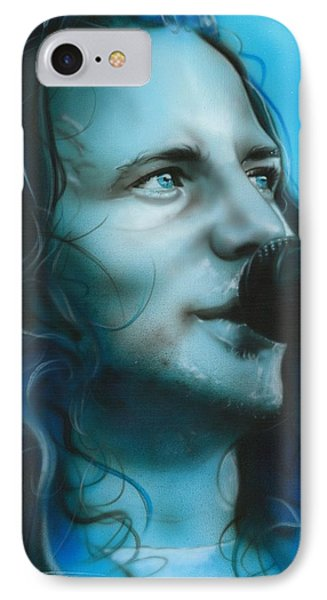 Eddie Vedder - ' Arms Raised In A V ' IPhone Case by Christian Chapman Art