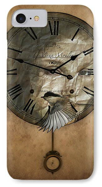Around The Clock-time Is Flying Phone Case by Barbara Orenya