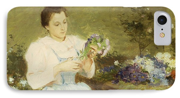 Arranging Flowers For A Spring Bouquet IPhone Case by Victor Gabriel Gilbert