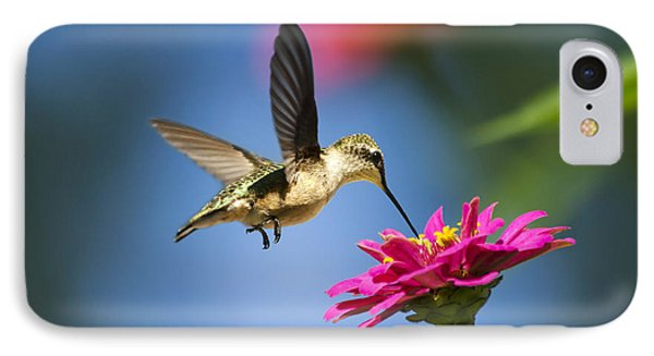 Art Of Hummingbird Flight IPhone 7 Case by Christina Rollo