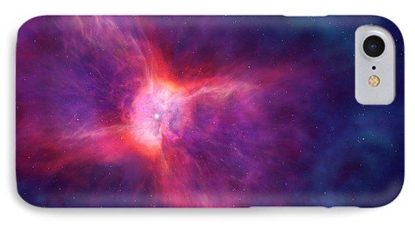 Artwork Of A Bipolar Planetary Nebula IPhone Case by Mark Garlick