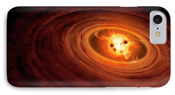 Artwork Of A T Tauri Star IPhone Case by Mark Garlick
