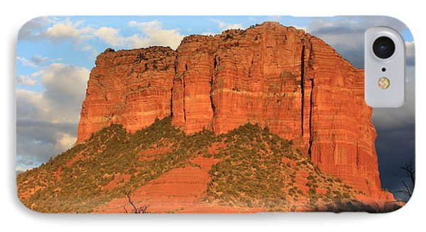As The Sun Sets In Sedona IPhone Case by Carol Groenen