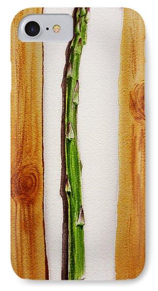 Asparagus Tasty Botanical Study IPhone Case by Irina Sztukowski