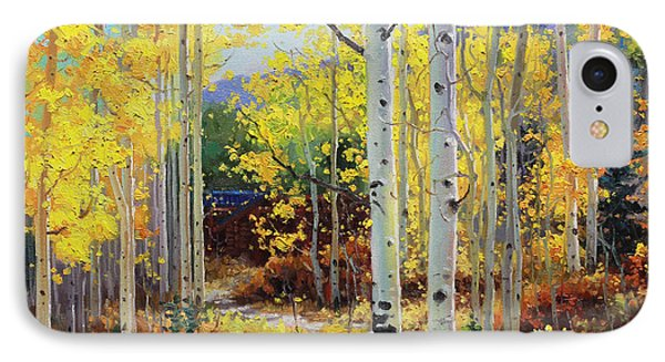 Aspen Cabin IPhone Case by Gary Kim