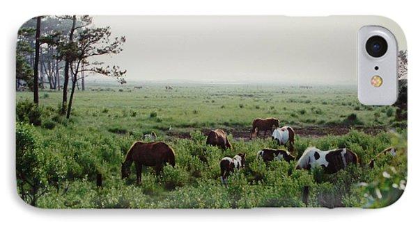 Assateague Herd 2 Phone Case by Joann Renner