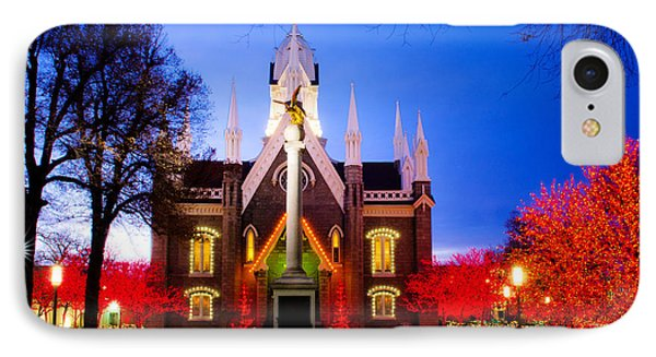 Assembly Hall Slc Temple Phone Case by La Rae  Roberts