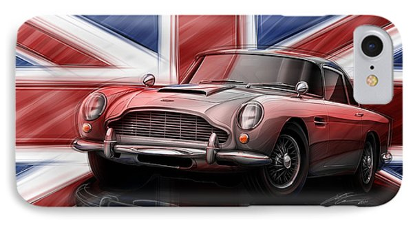 Aston Martin Db5 1963 IPhone Case by Etienne Carignan