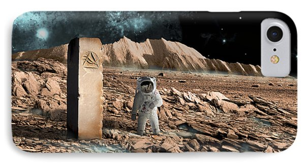 Astronaut On An Alien World Discovers IPhone Case by Marc Ward