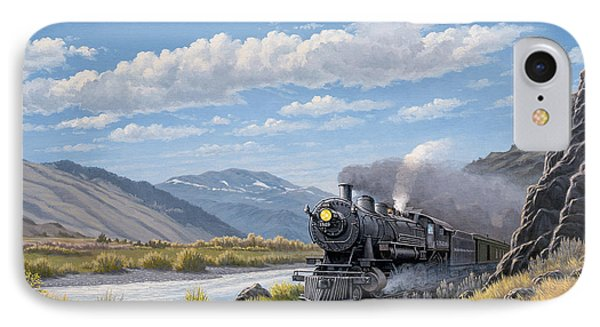 At Point Of Rocks- Bound For Livingston  IPhone 7 Case by Paul Krapf