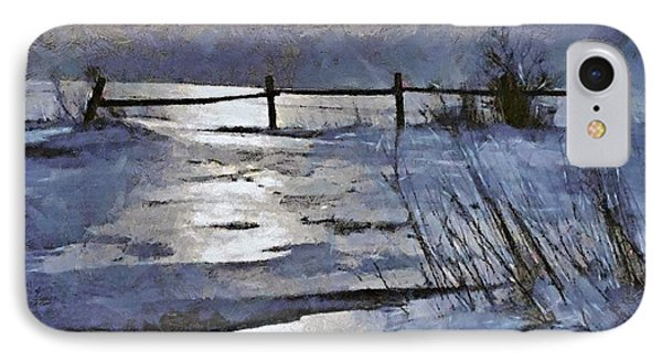 At The Frozen Lake IPhone Case by Dragica  Micki Fortuna