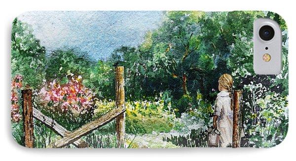 At The Gate Summer Landscape IPhone Case by Irina Sztukowski