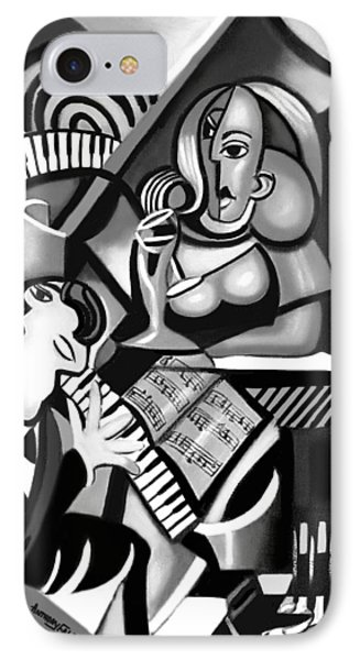 At The Piano Bar Phone Case by Anthony Falbo