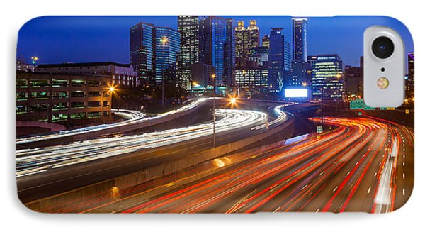 Atlanta Interstate I-85 By Night Phone Case by Inge Johnsson