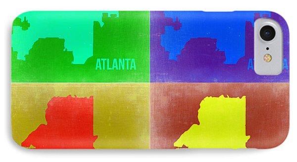 Atlanta Pop Art Map 2 IPhone Case by Naxart Studio
