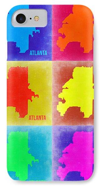 Atlanta Pop Art Map 3 IPhone Case by Naxart Studio