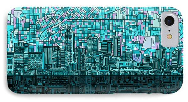 Atlanta Skyline Abstract 2 IPhone Case by Bekim Art