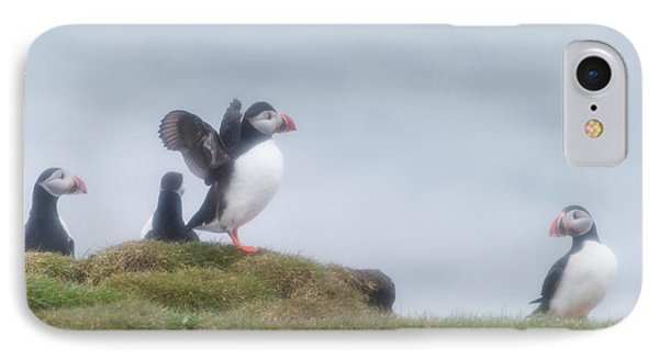 Atlantic Puffins Fratercula Arctica IPhone 7 Case by Panoramic Images