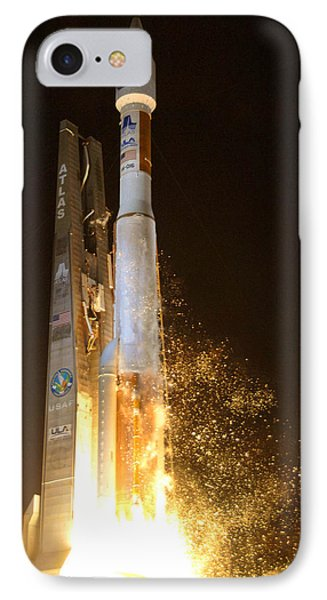 IPhone Case featuring the photograph Atlas V Rocket Taking Off by Science Source