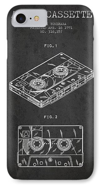 Audio Cassette Patent From 1991 - Dark IPhone Case by Aged Pixel