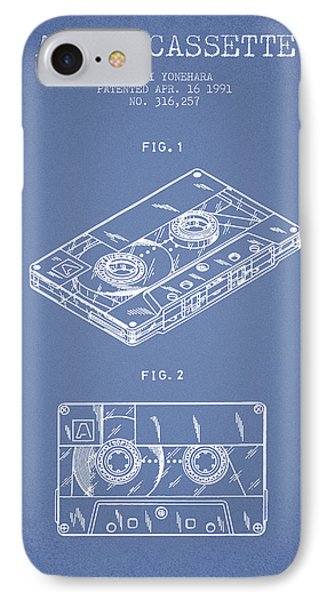 Audio Cassette Patent From 1991 - Light Blue IPhone Case by Aged Pixel
