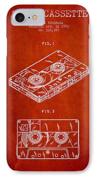 Audio Cassette Patent From 1991 - Red IPhone Case by Aged Pixel