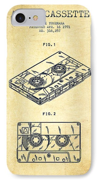 Audio Cassette Patent From 1991 - Vintage IPhone Case by Aged Pixel