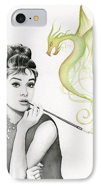 Audrey And Her Magic Dragon IPhone 7 Case by Olga Shvartsur