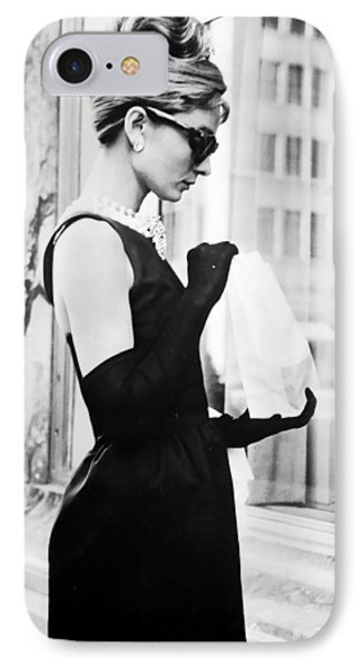 Audrey At Tiffanys IPhone 7 Case by Georgia Fowler