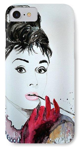 Audrey Hepburn - Original Phone Case by Ismeta Gruenwald