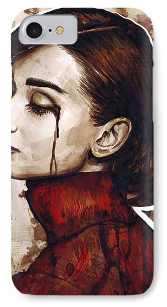 Audrey Hepburn Portrait IPhone Case by Olga Shvartsur